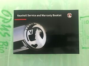 ORIGINAL VAUXHALL SERVICE BOOK NEW ASTRA CORSA ADAM ZAFIRA INSIGNIA MOKKA