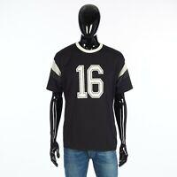 CELINE 490$ Men's 16 Loose Tshirt In Black Cotton & Mesh Inserts