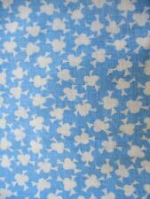 """Vintage Cotton Feed Sack Fabric Blue Print 31 Wide x 34"""" Long"""