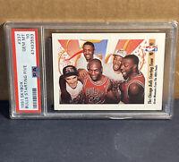 1991 Skybox Michael Jordan Chicago Bulls Starting Five #337 PSA 10 Gem Pippen
