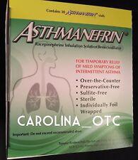 NEW Asthmanefrin 30 CT Vials Refill Kit Box Asthma OTC Inhaler Expires FEB  2018