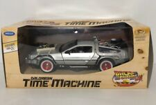 BACK TO THE FUTURE 3 III DELOREAN TIME MACHINE Welly 1:23 scale model car