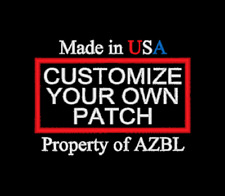 CUSTOM EMBROIDERED CUSTOMIZED PATCH 2 X 4 INCH EMBROIDERY SAYING MADE IN USA