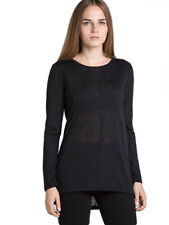 SURFACE TO AIR Women's Black Marble Longsleeve Top Sz 40 $170 NEW