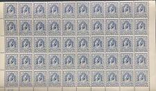 More details for trans jordan 1942 15m blue litho sg228 block of 50 (mnh) high c.v £1,350/-
