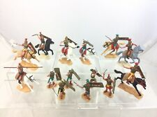 Lot 14 Vintage Timpo Roman Warriors Mounted + Footed Toy Soldiers