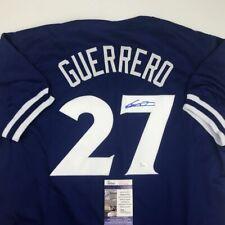 Autographed/Signed VLADIMIR VLAD GUERRERO JR Toronto Blue Jersey JSA COA Auto
