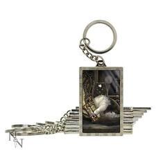 Time's Up! 3D key ring by Lisa Parker cat and sandtimer fantasy gift Nemesis Now