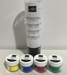 Stampin Up IN COLORS 2018-2020 Embossing Powders Lot of 4