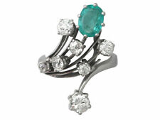 Unbranded Emerald Natural White Gold Fine Jewellery
