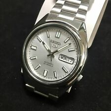 Seiko 5 Gents Automatic Watch Stainless Steel Silver Dial - SNXS73J1 (made in