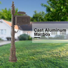 Classic Mail Box Cast Aluminum Decorative Mailbox Bronze