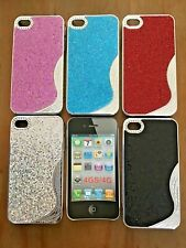 SET OF 4 x BLING DIAMANTÉ HARD PLASTIC BACK CASE COVER FOR APPLE iPHONE 4 4S