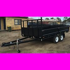 12x7 ft table top tandem trailer flatbed flat top trailer 2800kg also got 12x6