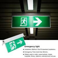 Acrylique LED signe de sortie de secours lumière signes de sécurité lampe