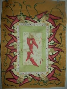 """Chili Pepper  Garden Flag  12"""" X 18""""  Two Sided  Appliqued ! !"""