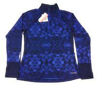 Merrell 1/2 Zip Pullover Shirt Womens Large Roam Wild Tech Top Eclipse Print