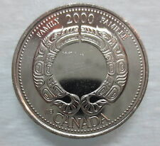 2000 CANADA 25¢ AUGUST FAMILY BRILLIANT UNCIRCULATED QUARTER