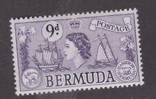 Bermuda 1958 QEII Definitive 9d Violet SG143b Fresh MUH CV£13