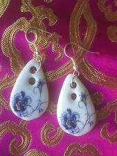 antiquity Ceramic Earrings Blue and white porcelain 青花瓷古典耳環
