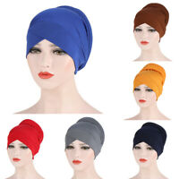 Women Hair Loss Hat Cancer Chemo Cap Muslim Turban Hijab Headwear Beanie Bonnet