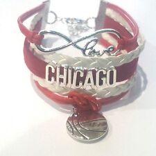 Chicago Bulls Infinity Bracelet with basketball charm NBA