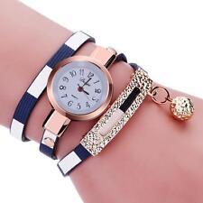 Women Charm Wrap Around Leatheroid Quartz Wrist Watch Fashion Watches New