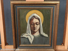 Hellmuth Müller-Leutert ? ÖL GEMÄLDE ANTIK MADONNA MARIA Mother Mary art déco
