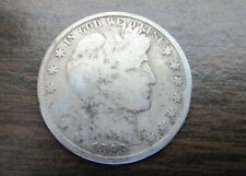 OLDIE 1898-P BARBER or LIBERTY HEAD SILVER 50 Cent Coin 121 years old ! SILVER !