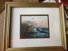 Beacon Of Hope Lighthouse Accent Print Thomas Kinkade Framed
