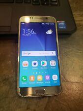 Samsung Galaxy S6 SM-G920T, T-Mobile, Gold, Cracked Glass Runs Hot Good imei Q9