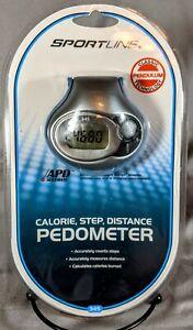 Sportline PEDOMETER SL345W +Belt Clip Measures: Steps, Distance, Calories Sealed