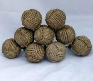 Jute Knobs For Pull And Push Handle Decorative Natural Jute Knobs Set Of Ten
