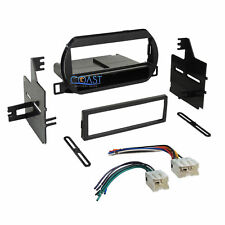 Car Radio Stereo Single Din Dash Kit Wire Harness for 2002-2004 Nissan Altima