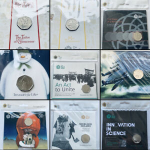 Royal Mint Brilliant Uncirculated 50p Fifty Pence Commemorative Coin Sealed Pack