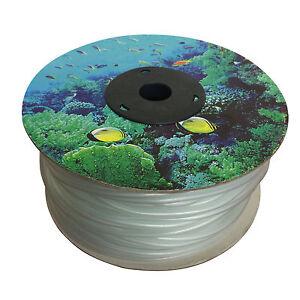 100m Silicone Air Line Roll for Aquarium Fish Tank Pond Air Pump Tubing (4/6mm)