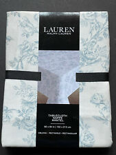 NEW! RALPH LAUREN Blue White FLORAL Tablecloth Flowers 60x84 RECTANGLE *NWT