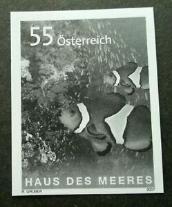 [SJ] Austria 50th Haus des Meeres 2007 Marine Fish (imperf black print stamp MNH