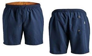 Jack and Jones Men's Classic Swim Shorts Drawstring Elasticated King Sizes 38-50