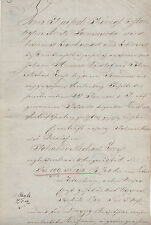 ANTIK Alte Handschrift Urkunde Gerichtsurkunde 1809 Sömerda
