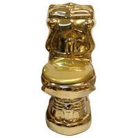 Goldene Toilette Exklusive Luxus Gold WC Standtiefspülklosett Gold Badezimmer