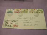 GB Royal Mail Stamps - First Day Cover / FDC - Christmas 1980