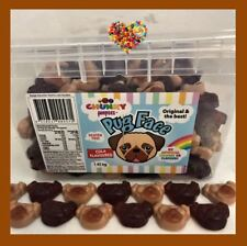 CHUNKY PUG FACES 700G SOFT LOLLIES CUTE PUG FACES LOLLIES PUPPIES BROWN LOLLIES