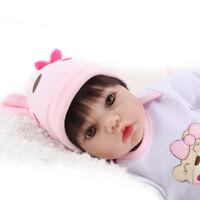 Lifelike Newborn Toddler Dolls Realistic Vinyl Reborn Baby Girl Doll Gift 22inch