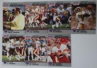 1990 Pro Set Super Bowl Supermen Washington Redskins Team Set 7 Football Cards