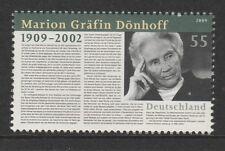 Germania 2009 Marion grafin donhoff SG 3628 MNH