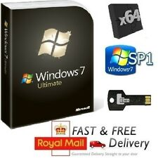 Windows 7 Ultimate 64-bit SP1 Full Version & License COA Product Key on USB