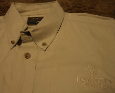 Haverty's Furniture Store Employee Uniform Embroidered Long Sleeve Shirt XL