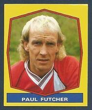 Panini Fútbol 88- #399-BARNSLEY-DERBY-OLDHAM-MANCHESTER City-Luton-Paul Futcher