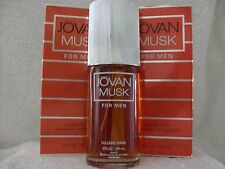 MUSK FOR MEN by JOVAN COLOGNE SPRAY 3 fl oz EACH x 2  VINTAGE AND BOXED